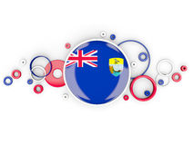 Round flag of saint helena with circles pattern Royalty Free Stock Image