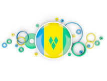 Round flag of saint vincent and the grenadines with circles patt Royalty Free Stock Photo