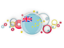 Round flag of tuvalu with circles pattern Royalty Free Stock Image