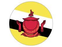 Round flaga Brunei royalty ilustracja