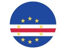 Round flaga przylądek Verde ilustracji