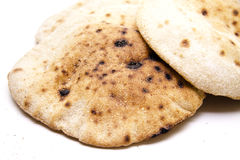 Round flat dough cakes bread Stock Images