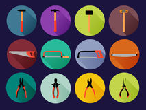 Round flat hand tools Stock Images