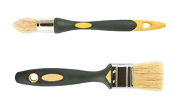 Round and flat paint brush Stock Photography