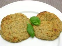 Round flat potato dough cakes Royalty Free Stock Photography