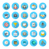 Round Flat Resume Icons Stock Images