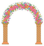 Round floral archway Royalty Free Stock Photo