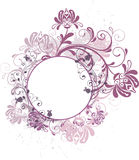 Round floral background Royalty Free Stock Photo