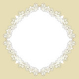 Round floral background Stock Photo