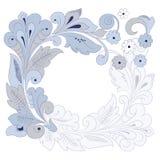 Round floral background (illustration) Stock Image