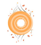 Round Floral Banner Stock Photo