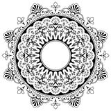 Round floral calligraphic mandala border Royalty Free Stock Photos