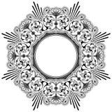 Round floral calligraphic border Stock Image