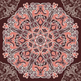 Round floral design seamless pattern Stock Images