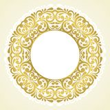 Round floral frame. Stock Photography