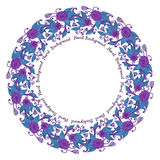 Round floral frame Stock Photos