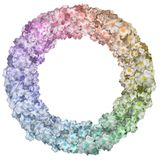 Round Floral Frame Stock Image