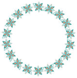 Round floral frame Royalty Free Stock Image