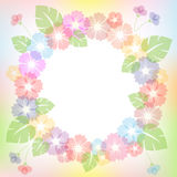 Round floral frame for your design. Royalty Free Stock Image