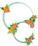 Round floral frames Stock Image