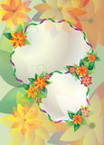 Round floral frames on color background Stock Image