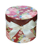 Round Floral Gift Box Royalty Free Stock Photos