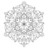 Round floral mandala. Royalty Free Stock Photography