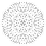 Round floral ornament. Coloring mandala page Stock Image