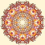 Round floral ornament mandala Stock Photos