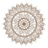 Round floral ornament pattern Royalty Free Stock Photo