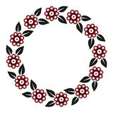 Round floral ornament Royalty Free Stock Photography