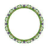 Round floral ornament on a white background royalty free stock images