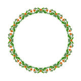 Round floral ornament on a white background Royalty Free Stock Photos