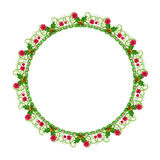 Round floral ornament on a white background Royalty Free Stock Photo