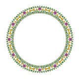 Round floral ornament on a white background Royalty Free Stock Image
