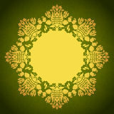 Round floral ornamental frame Stock Photos