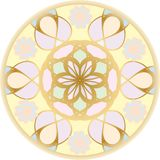 Round  flower pattern pastel colors. Round  floral pattern for design and creativity, executed in soft, pastel colors Stock Images