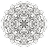 Round floral  pattern Stock Image