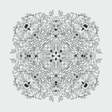 Round floral pattern. kaleidoscopic mandala. Royalty Free Stock Photos