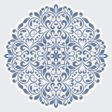 Round floral pattern. Royalty Free Stock Image