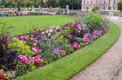 Round flower bed Stock Photography