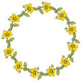 Round flower frame Stock Photo