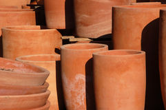 Round flower pots Stock Images