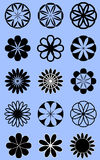 Round flower style icons Stock Image