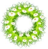 Round flower wreath Royalty Free Stock Photos