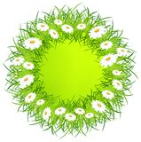 Round flower wreath Royalty Free Stock Images