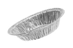 Round Foil Tray Stock Image