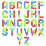 Round Font Alphabet A to Z Minimal Symbol Icon Royalty Free Stock Photos