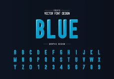 Free Round Font And Alphabet Vector, Blue Letter Typeface And Number Design, Graphic Text On Background Royalty Free Stock Images - 160997039