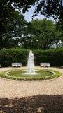 Round fontanna w parku Zdjęcia Royalty Free